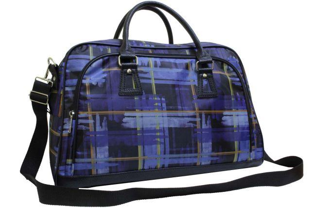 1320к сумка дорожная синяя клетка