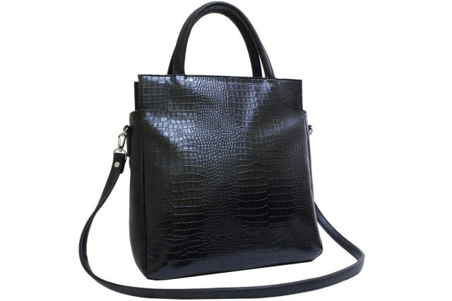 2053 сумка женская черный крок