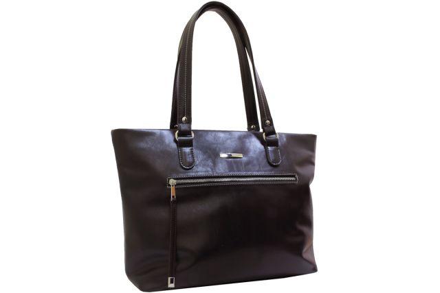 2054 сумка женская коричневая