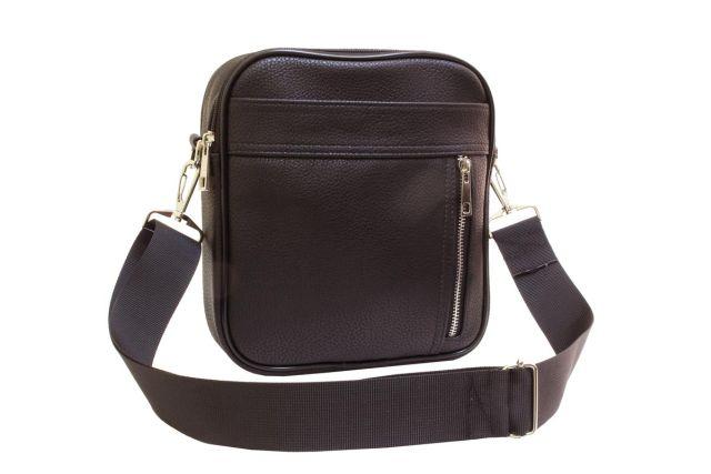 2039 сумка мужская коричневая