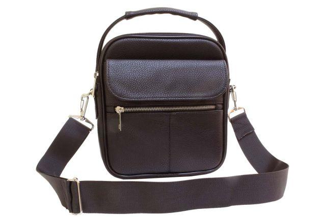 2042 сумка мужская коричневая