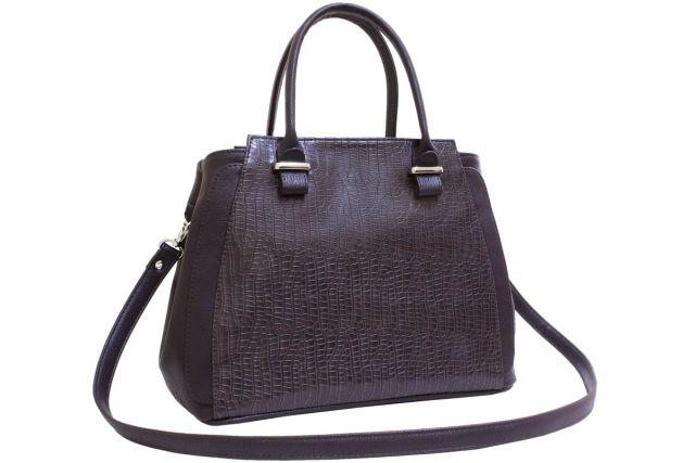 1901 сумка женская коричневый крок/коричневая