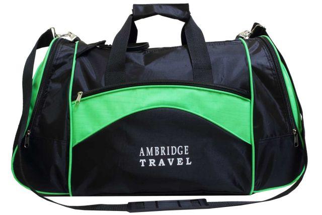 1112к сумка спортивно-дорожная черная/зеленая