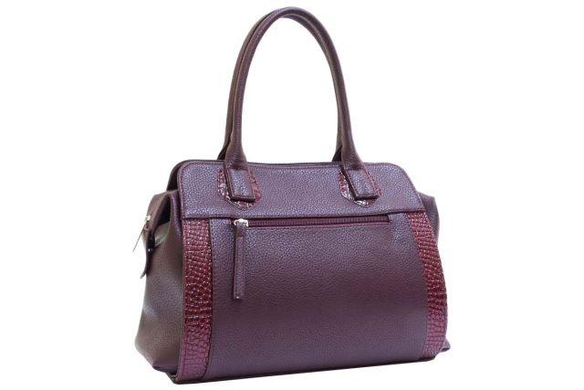 1727 сумка женская бордовая
