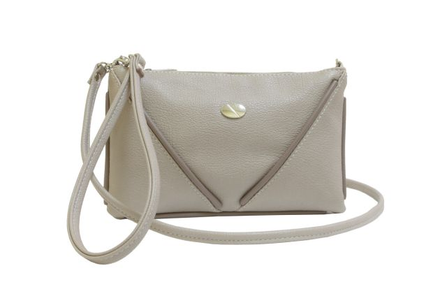 1315 сумка женская темно-бежевая