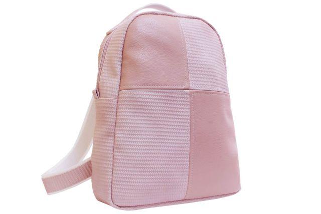 1532 рюкзак розовый комбинированный