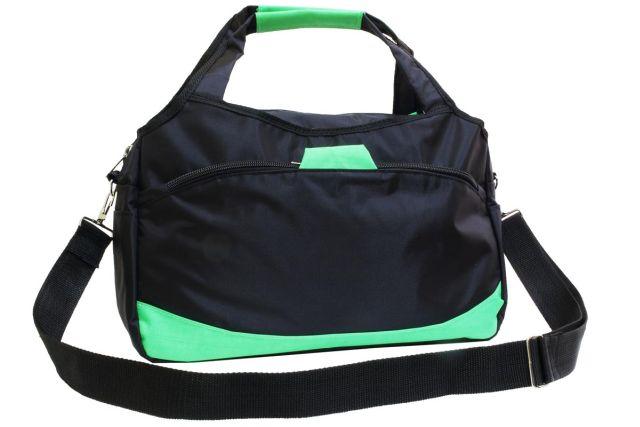 1936к сумка спортивно-дорожная черная/зеленая