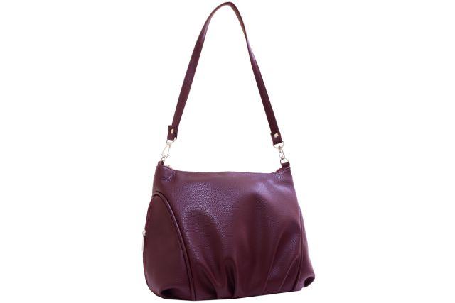 1541 сумка женская бордовая