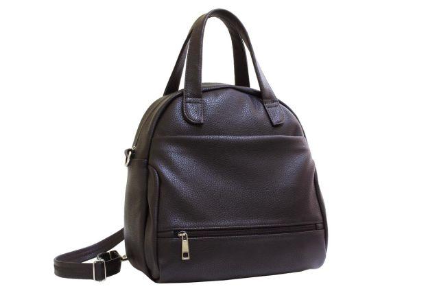2113 сумка-рюкзак женская коричневая