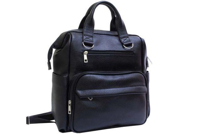 2112 сумка-рюкзак женская черная