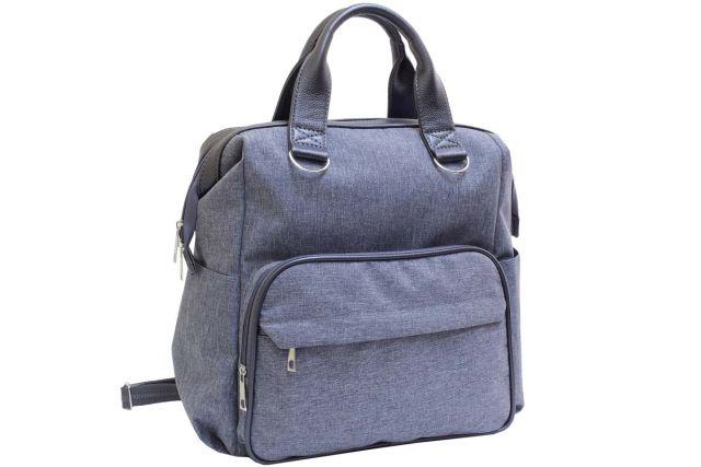 2112к сумка-рюкзак женская серая