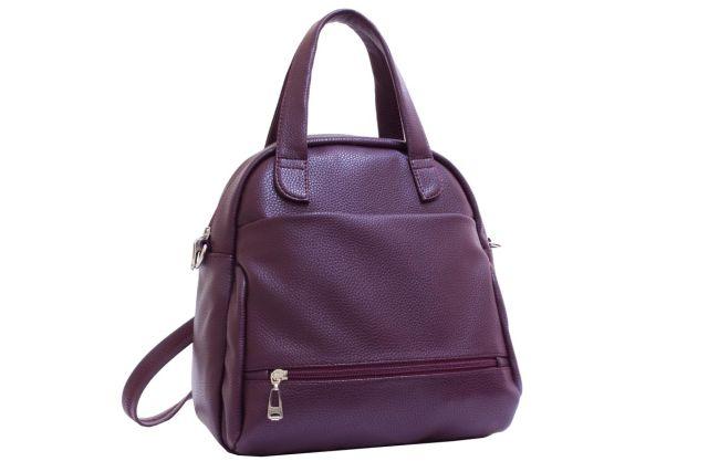 2113 сумка-рюкзак женская бордовая