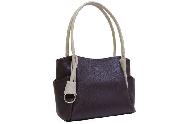 1805 сумка женская коричневая/темно-бежевая