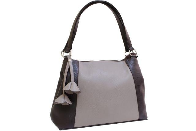 2101 сумка женская темно-бежевая/коричневая