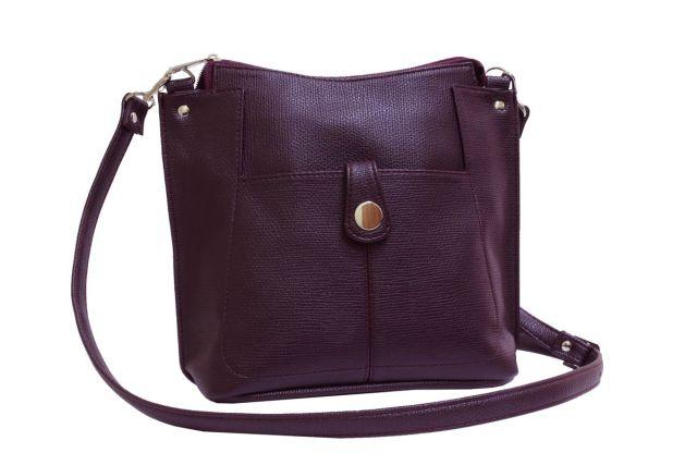 2104 сумка женская бордовая